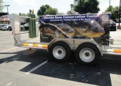 Florida largemouth bass restocking tank