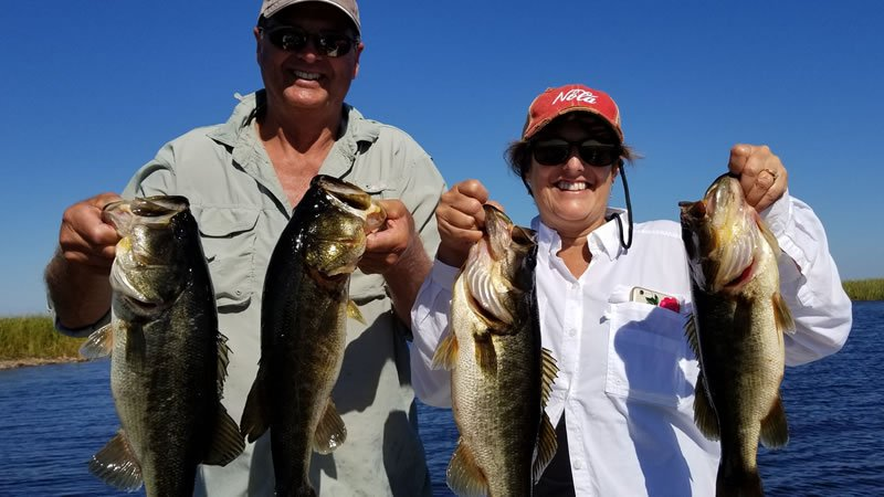 Two bass fishing trips on lake okeechobee catching largemouth for Florida fishing vacations